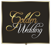 Golden wedding logo